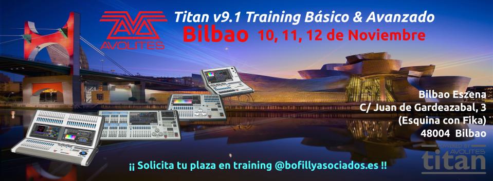 Curso Avolites Titan en Bilbao