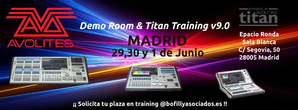 Curso Avolites Titan en Madrid